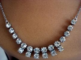 Vintage Diamante Necklace Circa 1950s (SOLD)